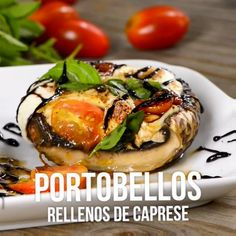 Video of Portobellos filled with Caprese - Food and Drink Cooking Videos Tasty, Tasty Videos, Food Videos, Cooking Recipes, Cooking Games, Cooking Fish, Camping Cooking, Veggie Recipes, Mexican Food Recipes