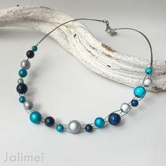 Miracle Bead Kette türkis-blau