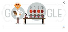 Karl Landsteiner on Google Doodle this day (14/06)