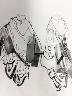 Robyn Orrett - illustrations for project No.1 - 1st year student at Kingston University London