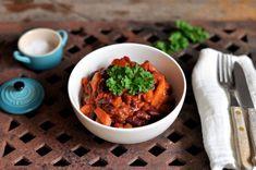 Chili sin carne Tex Mex, Guacamole, Chili, Ethnic Recipes, Food, Chilis, Meals, Yemek, Chile