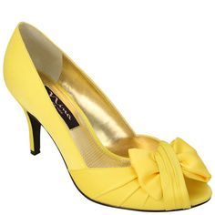 My wedding shoes!    Nina Forbes | Canary Luster Satin Shoes
