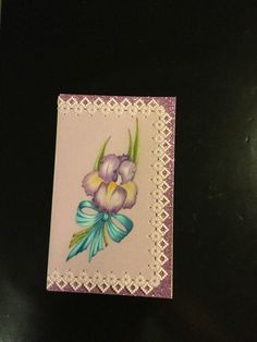This card was designed by a friend-Edna Giles art work by Miss Jilly.