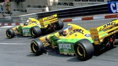 "itsawheelthing: "" Michael Schumacher & Riccardo Patrese, Camel Benetton-Ford B193, 1993 Monaco Grand Prix """