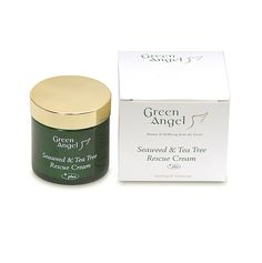 Green Angel Seaweed & Tea Tree Rescue Cream combines the therapeutic and rejuvenative benefits of Irish Seaweed with Tea Tree essential oil, renowned as a natural antiseptic.This powerful Rescue cream can be a gentle method of helping to control skin irritations and problems such as acne,eczema psoriasis, rosacea, cold sores, athlete's foot, insect bites, minor cuts, scrapes or scratches. Gentle enough to use on all skin types