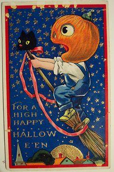 "Vintage Halloween Postcard, ""BARTON & SPOONER"" BS | Flickr - Photo Sharing!"