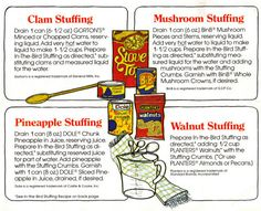 Stove Top Stuffing Mix Recipes Sheet