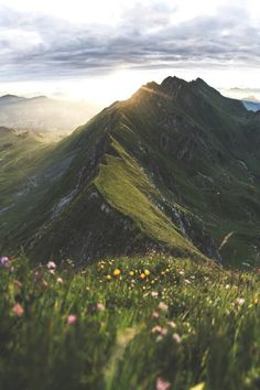 "lsleofskye: ""The Brienzer Rothorn at sunrise Sunrise Landscape, Landscape Art, Landscape Paintings, Landscape Edging, Beautiful World, Beautiful Places, Instagram Challenge, Nature Aesthetic, Aesthetic Sense"
