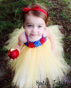 Snow White Tutu Dress Halloween Costume baby girl by KutieTuties, $35.00