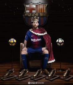 Lionel Messi - King of football! Football Players Photos, Football Cheer, Football Is Life, Football Match, Soccer Players, Fc Barcelona Players, Barcelona Football, Pro Evolution Soccer, Messi Soccer