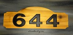 Wood Address Plaques House Address Numbers Home by AllWoodToo
