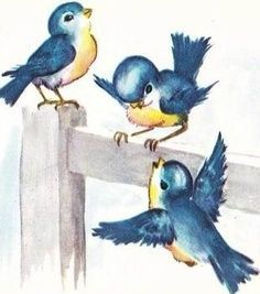Perfect vintage bluebirds!