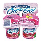 Knudsen Cottage Cheese Single Serving. They sell individual containers for $1 @ Raleys.