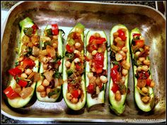 Stuffed Zucchini Boats!  #zucchinirecipes #healthyrecipes #zucchini #vegan #recipes #healthy #summertime #easyrecipes #veggies #healthysidedishes