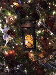 Lantern in Christmas tree