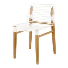 This modern and contemporary dining chair is designed with a solid white steel iron seat and american oak timber legs. Pair these with any dining table.