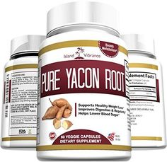 Pure Yacon Root Powder Extract Capsules - All Natural Potent Prebiotic Supplement Promotes Detox and Cleanse, Weight Loss, Healthy Digestion, Boosts Metabolism, and Suppresses Appetite - 60 Caps - Full 30 Day Supply - Made in USA Island Vibrance http://www.amazon.com/dp/B00YWWFGPG/ref=cm_sw_r_pi_dp_EOv0wb0Q3T3AN