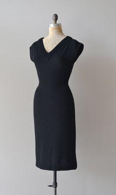 vintage 1950s dress | Fascination boucle knit dress