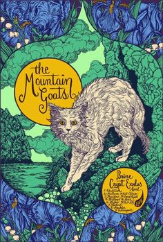 The Mountain Goats tour poster
