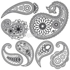 Eps Vintage Paisley  patterns for design. by OlgaYakovenko - Stock Vector , paisley shapes are another interesting source. http://depositphotos.com/3376767/stock-illustration-Eps-Vintage-Paisley--patterns-for-design..html#