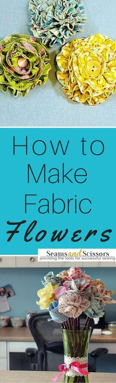 Learn how to make fabric flowers out of scraps, zippers, and more! #fabricscrapideasribbons
