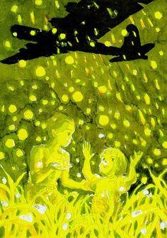 火垂るの墓 / Hotaru no Haka / Grave of the Fireflies - Concept Art Hotaru No Haka, Grave Of The Fireflies, The Cat Returns, Studio Ghibli Movies, Keys Art, Cool Animations, Watercolor Sketch, Hayao Miyazaki, Animation Film