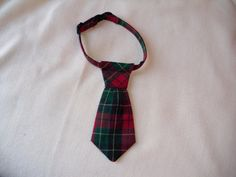 Tartan Necktie for Cats by parksidedesignstudio on Etsy, $10.00
