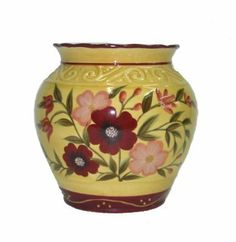 """TART BURNER FLORAL DECOR, TUSCANY GARDEN CERAMIC by ACK. $13.99. 5""""h. WE CARRY THE ENTIRE COLLECTIONAmazing Garden Collection Give your home and kitchen a great change with this amazing Garden Collection HAND-PAINTED with each item carefully done with details.The Unique Selection of a great Italian Collection. High Quality Ceramic, Finish Gloss, Stylized floral in vibrant colors hand painted in fashion forward hues adorn all of the pieces; The colors are amazing. Thi..."""