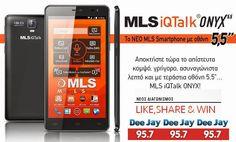 Διαγωνισμός DeeJay 95.7 με δώρο το smartphone MLS iQTalk Onyx DUAL SIM! - http://www.saveandwin.gr/diagonismoi-sw/diagonismos-deejay-95-7-me-doro-to-smartphone-mls-iqtalk-onyx-dual-sim/