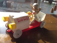Look Mom No Hands I'm Cooking With Gas Toy Car on Etsy, $30.00