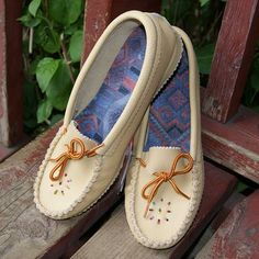 Women's Tan Genuine Leather Moccasin Shoes with Durable Crepe Sole - 1135
