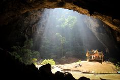 Inside Tham Phraya Nakhon Cave at the Bird Sanctuary and Wildlife Reserve in the Khao Sam Roi Yot National Park in Thailand Khao Sam Roi Yot National Park, Parc National, National Parks, Beautiful Castles, Beautiful Sites, Beautiful Places, Amazing Places, Holiday Places, Thailand Travel