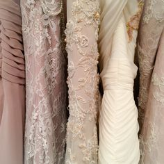Blush and cream bridal gowns galore #AngeloAccess