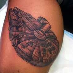 I would love a Millennium Falcon tattoo. Only, I would get it on my wrist and much smaller.
