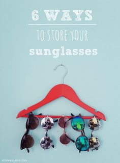My sunglasses were piling up in a big chaos, so I really had to find a solution. I chose a very simple one that you can see in the picture above, but I wanted to share some other DIY ideas that I f...