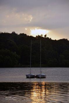 sunset, jamaica pond / david fuller photo
