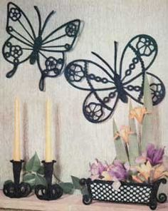 Mr & Mrs Butterfly Wall Plaques   Crochet Patterns