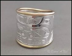 Shop for Northwest Coast Indian Jewelry & Art Metal Jewelry, Jewelry Art, Jewelry Design, Jewlery, All Mythical Creatures, Tooth And Claw, Animal Symbolism, Haida Art, Native Design