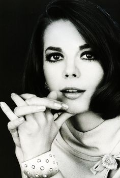 Natalie Wood (1966).  Vintage  black and white   Hollywood