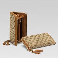 Gucci 261393 Amn0g 5698 Zip Around Wallet mit Quasten und G-Detail Gucci Damen Portemonnaie