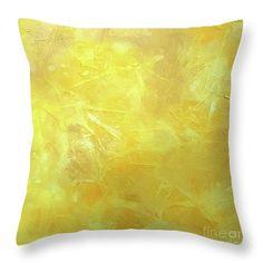 Sunlight Yellow Throw Pillow in 5 Sizes by Jilian Cramb #Minimal #HomeDecor #Sunny