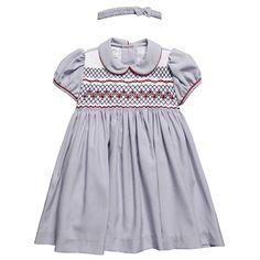 Blue Smocked Dress & Headband Set - Smocked - Dresses - Girl   Childrensalon