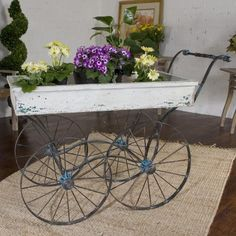 Weathered Flower Cart.