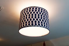 DIY drum shade to replace my ugly apartment ceiling fixtures!
