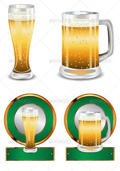 Label with Beer Glass
