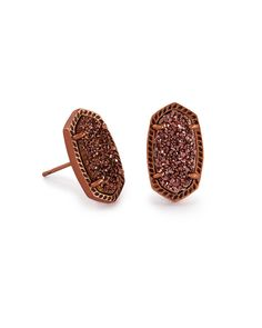 Kendra Scott Ellie Stud Earrings In Black Drusy 65 Liked On Polyvore Featuring Jewelry Druzy Jewel