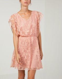 Μίνι κοντομάνικο φόρεμα δαντέλα