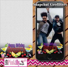 GF-537 Cocktail Birthday Snapchat by LittlePinkflyDesigns on Etsy