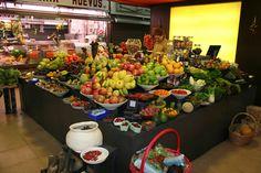 Fruit stall at La Libertat market barcelona