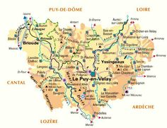 Haute Loire 43 Map, Travel, Map Of France, France Travel, Viajes, Location Map, Destinations, Maps, Traveling